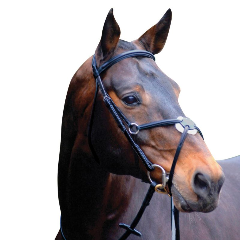 CALDENE BRIDLE GRACKLE PADDED WITH REINS BLACK
