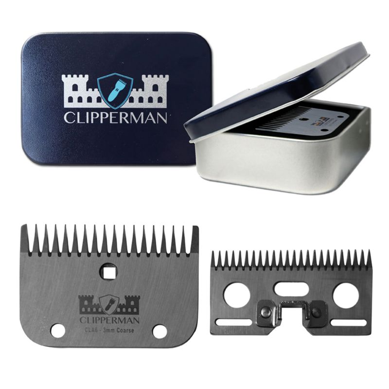 CLIPPERMAN CLA6 HIGH QUALITY STEEL BLADE SET
