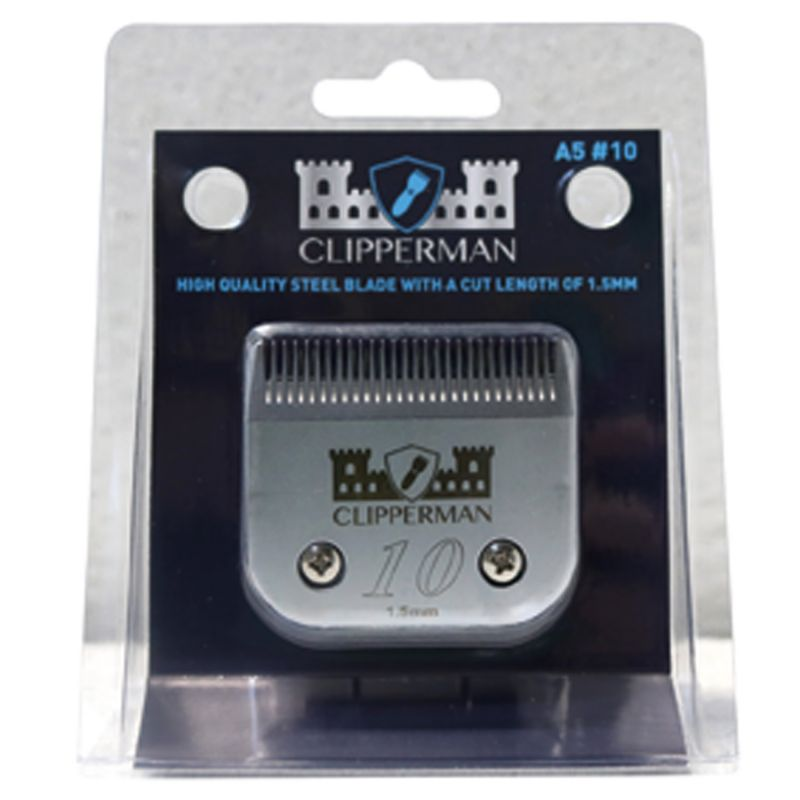 CLIPPERMAN A5 #10 HIGH QUALITY STEEL BLADE SET