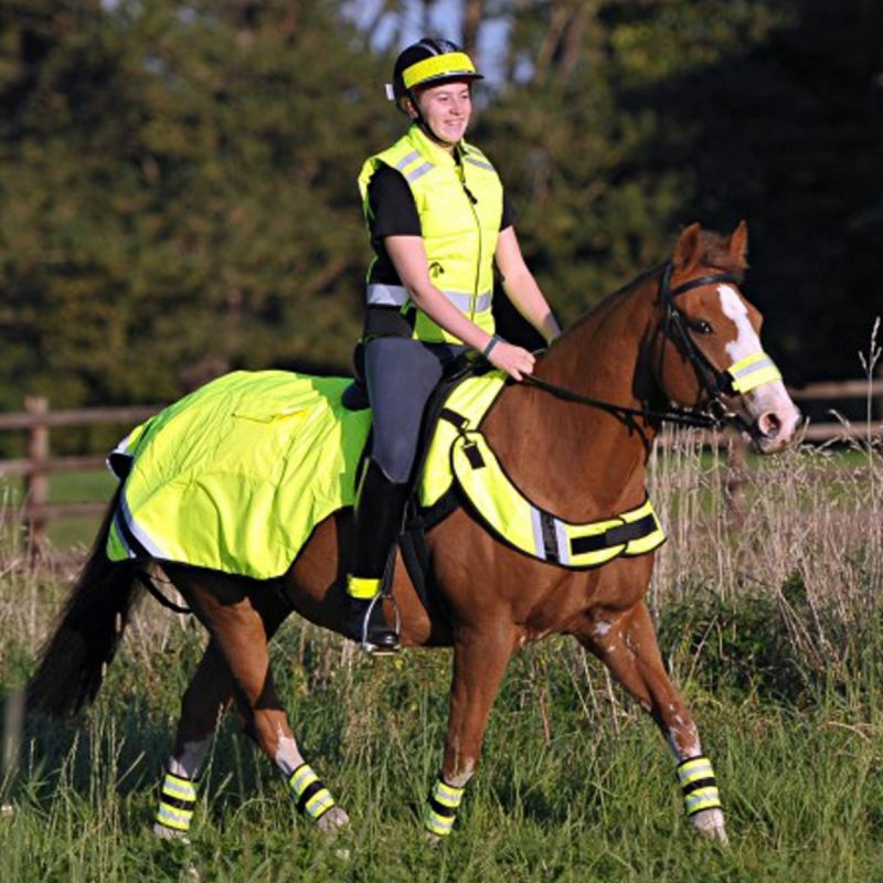EQUISAFETY WATERPROOF QUILTED HI-VIS WRAP AROUND RUG - YELLOW