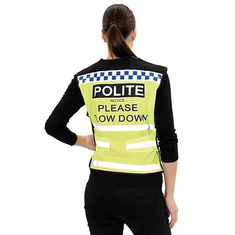 EQUISAFETY POLITE WAISTCOAT PLEASE SLOW DOWN
