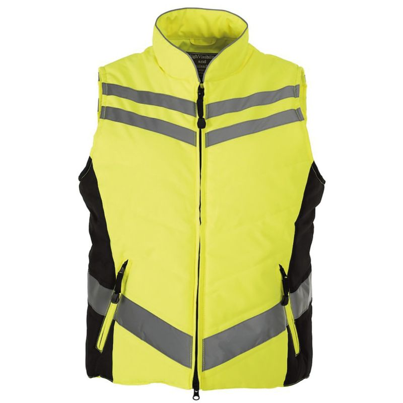 EQUISAFETY QUILTED HI-VIS GILET PINK OR YELLOW