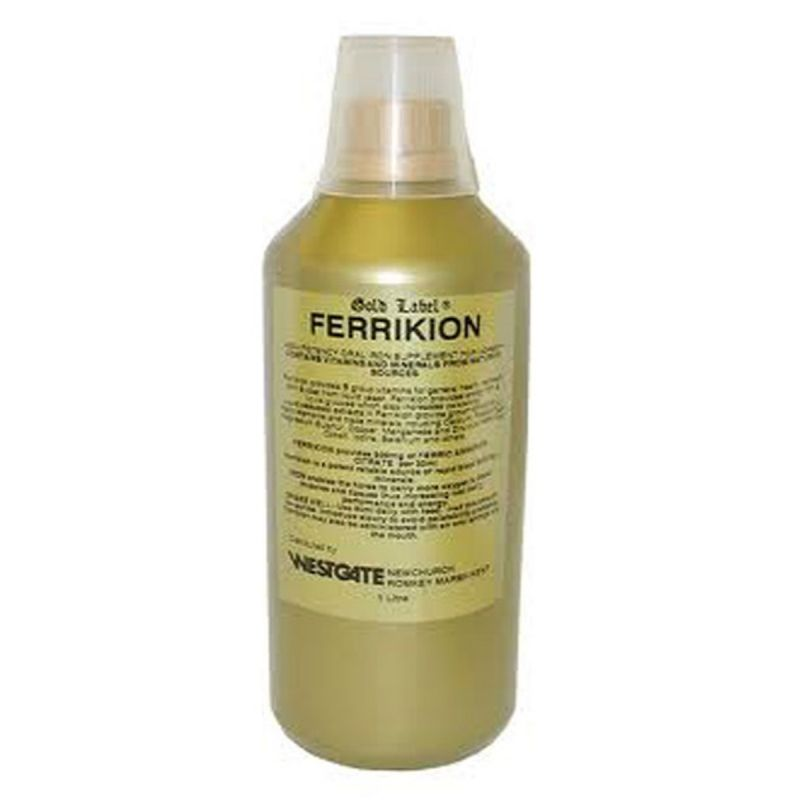 Gold Label Ferrikion for Horses 1 Litre Bottle