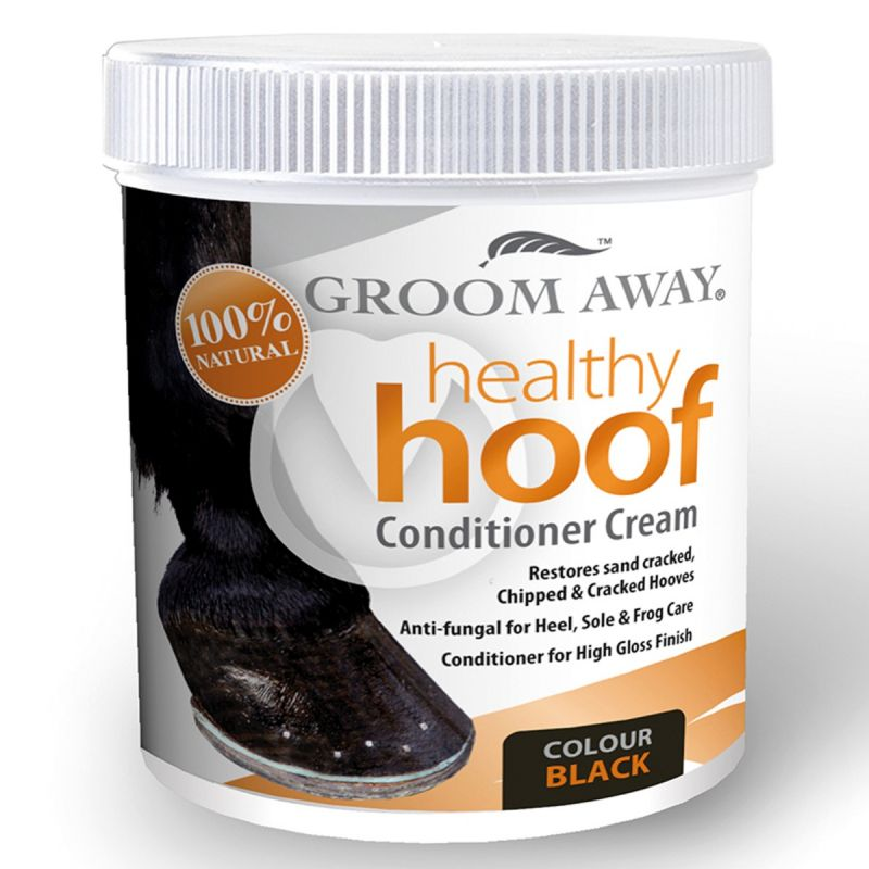 Groom Away Healthy Hoof Conditioner Cream Black - 200 Ml