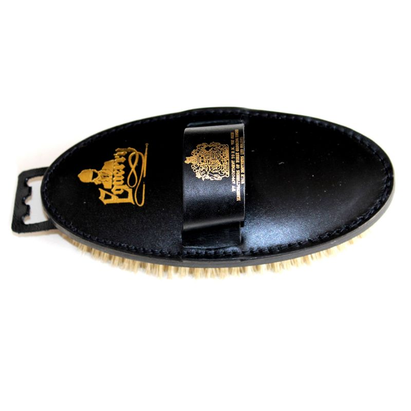 EQUERRY BODY BRUSH LEATHER SOFT BRISTLE