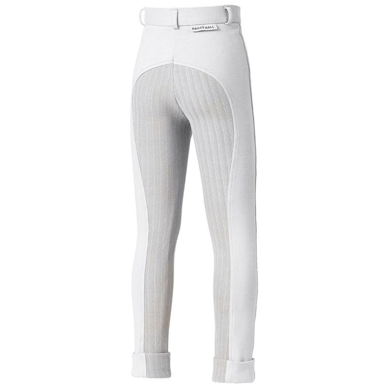 HARRY HALL BREECHES CHESTER STICKY BUM JUNIOR WHITE