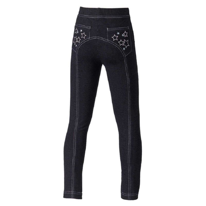 HARRY HALL JEGGINGS STAR JUNIOR BLACK