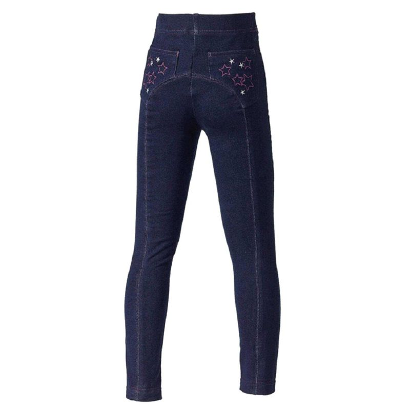 HARRY HALL JEGGINGS STAR JUNIOR NAVY