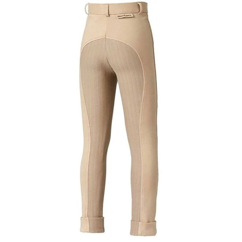 HARRY HALL JODHPURS CHESTER STICKY BUM JUNIOR BEIGE