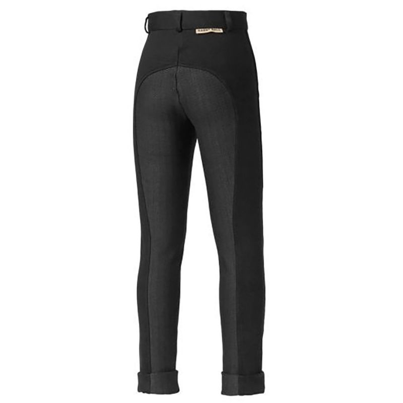 HARRY HALL JODHPURS CHESTER STICKY BUM JUNIOR BLACK