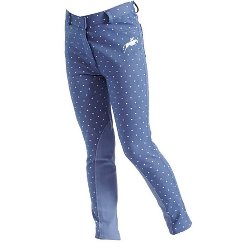 HARRY HALL JODHPURS ETTON HEART JUNIOR BLUE
