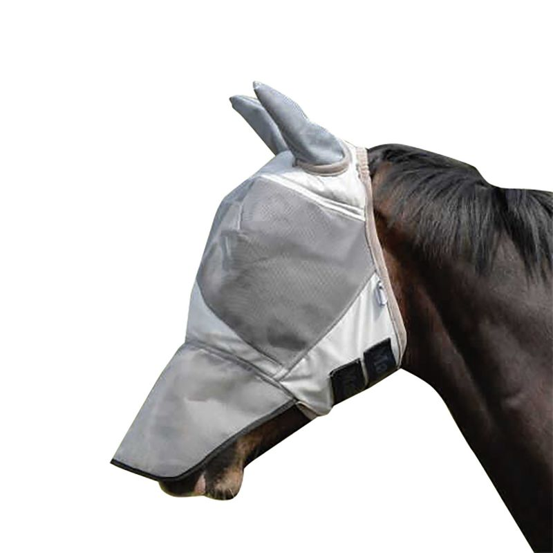MASTA FLY MASK UV WITH EAR & NOSE PROTECTION SILVER