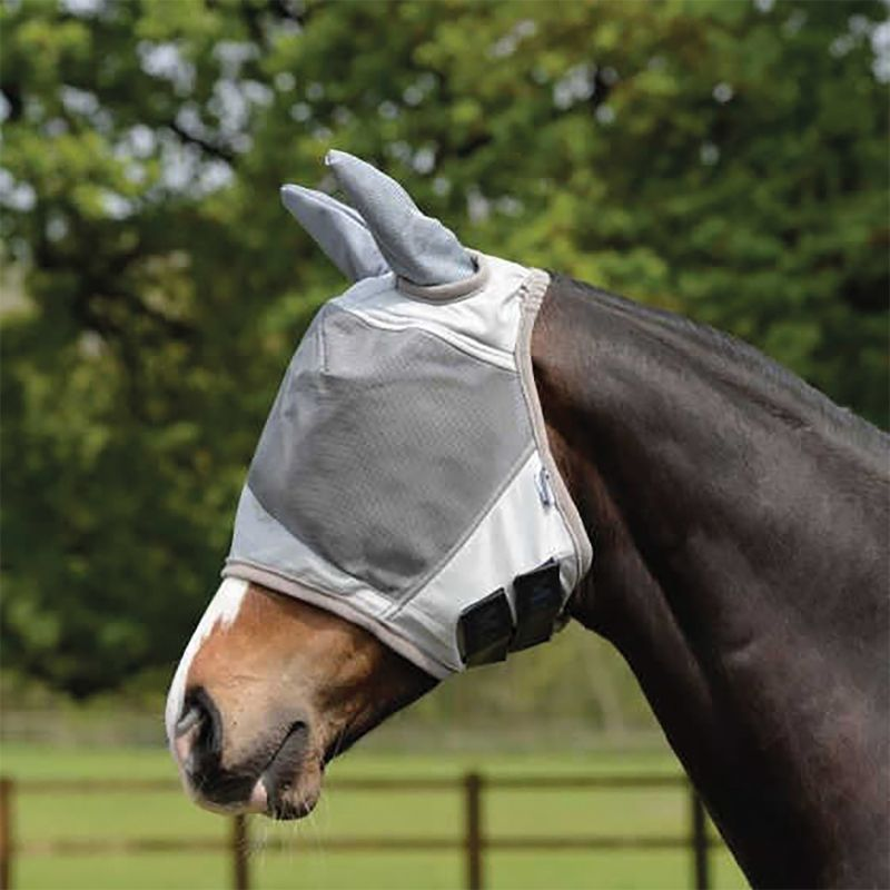 MASTA FLY MASK UV WITH EAR PROTECTION SILVER