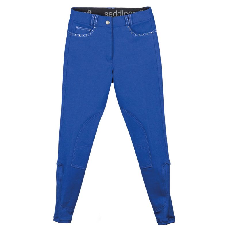 SADDLECRAFT BREECHES CONTRAST SPARKLY CHILD ROYAL