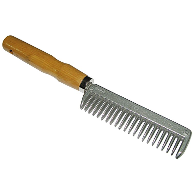 STABLEKIT MANE & TAIL COMB METAL WITH WOODEN HANDLE