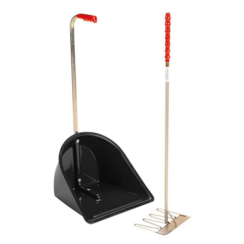 STUBBS STABLE MATE MANURE COLLECTOR HIGH C/W RAKE S4585