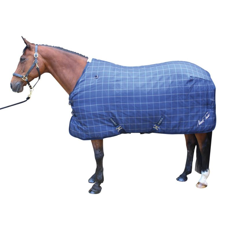 MARK TODD ULTIMATE HEAVYWEIGHT STABLE RUG IN NAVY PLAID