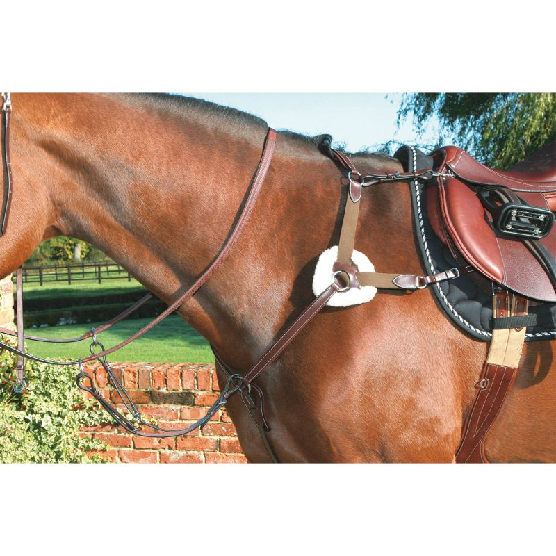 MARK TODD BREASTPLATE 5-POINT DELUXE HAVANA