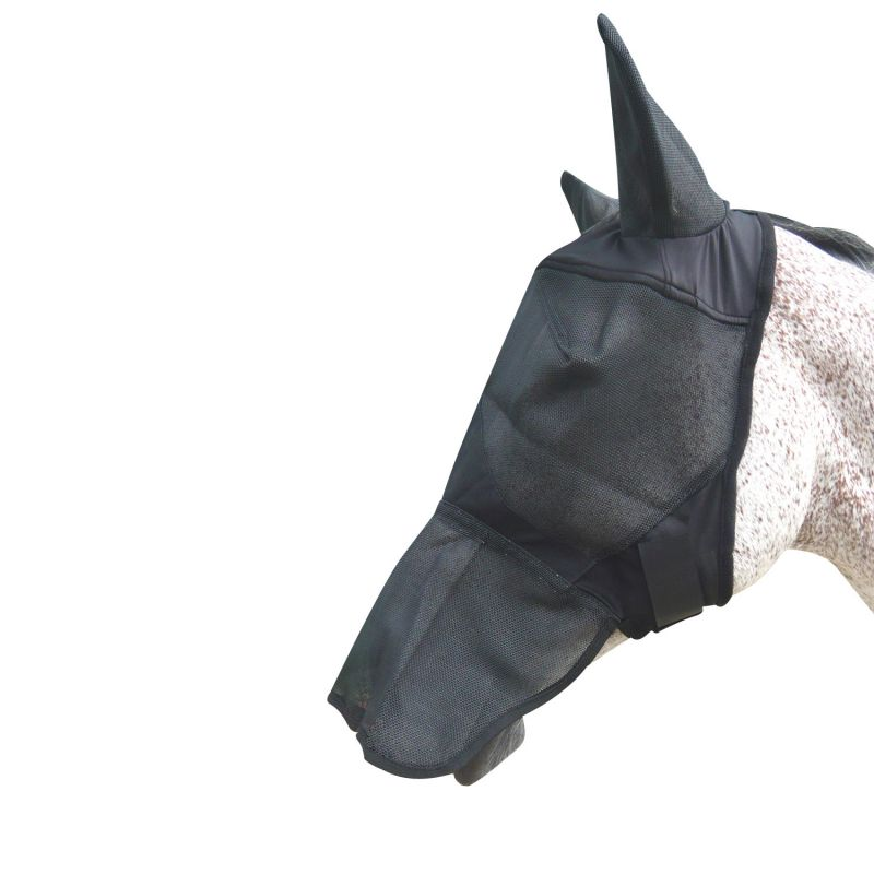 MARK TODD FLY MASK FULL FACE WITH EARS BLACK