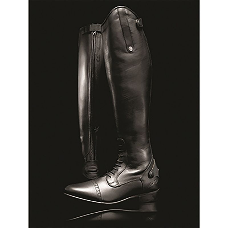 MARK TODD LONG LEATHER COMPETITION FIELD BOOTS SHORT BLACK