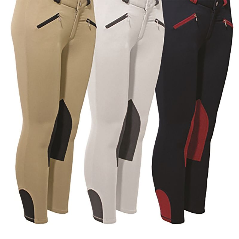MARK TODD BREECHES EURO SEAT JUNIOR BEIGE/NAVY
