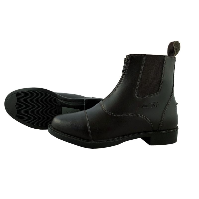 MARK TODD JODHPUR BOOTS SYNTHETIC FRONT ZIP BLACK