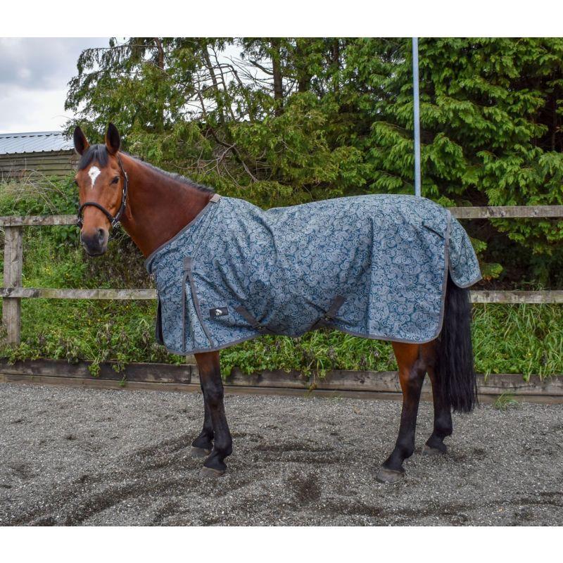Paisley Print W-Horse Turnout Rug Lightweight Finn 50 Gm